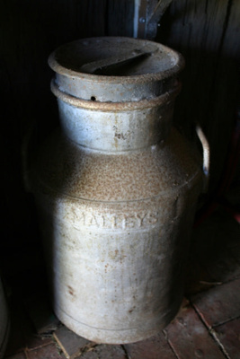 Milk Can, two bands, made by Malleys Ltd., Sydney
