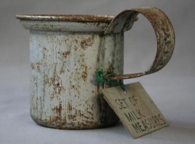 Milk Measure, made by Malleys Ltd., Sydney, used by milk vendor