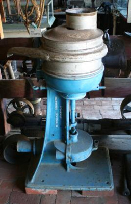 Cream Separator, painted blue cast iron, made by Alfa- Laval Separator Co. Ltd., Stockholm, sold by Waugh & Josephson Ltd. (agent), Sydney and Brisbane
