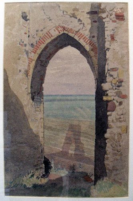 Dunwich: The last phase; Vulliamy, Edward (artist); 1919; DUWHM:P678