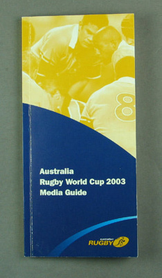 Rugby World Cup media guidebook - Australia team, 2003; Unknown; 2003; M12100