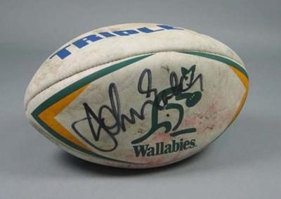 Rugby union match ball, 1998; Summit; Circa 1998; 1998.3395.1
