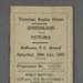 Rugby union match program, Victoria v Queensland, 1950; Chandler Press; 1950; M2962