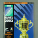 Rugby union match program - New Zealand v Italy, 2003 Rugby World Cup; Unknown; 2003; M12103.1