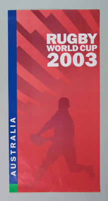 Rugby union poster, Rugby World Cup, 2003; Unknown; 2003; M12110