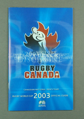 Rugby World Cup media guidebook - Canada team, 2003; Unknown; 2003; M12102