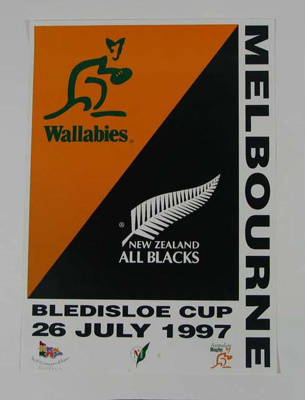 Rugby union poster, 1997; Unknown; 1997; 2006.5413