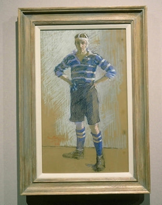 Drawing - Scottish Rugby Player; David Foggie (1878-1948); 1934; 2003/43
