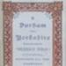 Programme Durham v Yorkshire, 1886; F.W. Mason; 1886; 2004/87