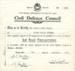 Air Raid Precautions certificate; 1941; T183
