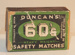 Safety matches; c.1940s; T42