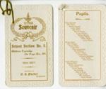 Card, commemorative, Churchville Schoolhouse; 1897; M2016.1.495