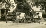 Photograph, Rabe's Dairy delivery vehicles; 1914; M2011.12.32