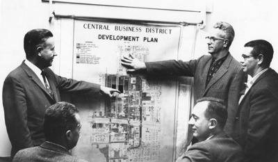 Photograph, Central Business District Development group; circa 1962; M2010.36.1