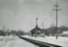 Photograph, Illinois Central Railroad Depot; Warren Larson; 1960; M88.15.14
