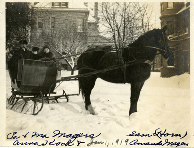 Photograph, Magers Family near the Glos Mansion; 1 Jan 1919; P74.6.11