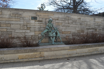 "Digital photograph, ""Once Upon a Time"" statue at Elmhurst Public Library; Daniel Lund; 2016; M2016.2.22"