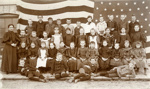 Photograph. Elmhurst Public School, 4th grade class photo ; J. Hecht, Elmhurst, ILL; 1895-1896; M2014.1.486