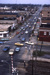 Slide, Photographic; Aerial view of N. York St. from the roof of the Elmhurst National Bank Building; Robert Kross; 1975; M91.70.265