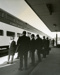 Photograph, Chicago & North Western RR  station commuters ; 1970; M2003.32.4