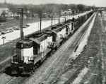 Photograph, CNWRR freight train; CHICAGO AND NORTH WESTERN RAILWAY; 1966; M2003.32.8