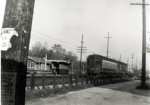 Photograph, Chicago Aurora and Elgin Train at the York Street Station; 1955; M2017.40.17