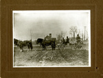 Photograph, Horse-drawn wagon and Faith United Methodist Church; post 1914; P77.12.4