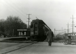 Photograph, Chicago Aurora and Elgin Train at Spring Road Station; circa 1957; M2017.40.3