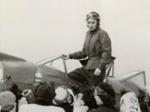Photograph, Bonnie Bosler at Elmhurst Airport; 1951; M1999.29.9