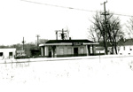 Photograph, Chicago, Aurora, and Elgin Station on Spring Road; 1960; M2017.1.609