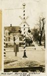 Photograph, Railroad crossing at Myrtle Avenue; November 20, 1929; M97.18.1