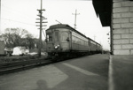 Photograph, Chicago Aurora and Elgin Train near York Street Station; March 1957; M2017.40.7