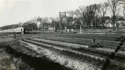 Photograph, Elmhurst Train; Herzberg Family; 25 Dec 1939; M92.29.40