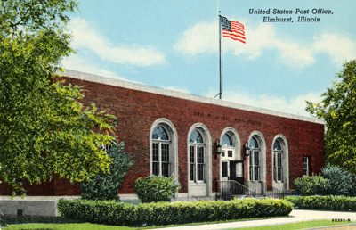 Postcard, Post Office; Genuine Curteich-Chicago / CT American Art, J.O. Stoll Co.; 1949; M2013.1.117