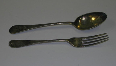 Cutlery from SS Devon; A_1984-003