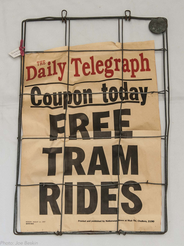 Newspaper Headline, wire frame, Coupon Today Free Tram Rides; Daily ...