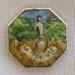 """Badges, tiny octagonal enamelled """"Laperouse"""" souvenir; 99.59:1-78"""
