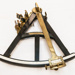 Octant, brass, ebony wood,ivory Made in England; 18th century; 88.1