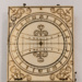 Sundial, Diptych pocket ivory and brass; 17th Century; 88.2