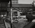 [parking lot with motorbikes]; Tsuchida, Hiromi; 1983; 2000:0057:0005