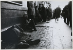 Untitled, [Homeless men next to a line of people]. ; McLoughlin, Mike; c.a. 1970; 1974:0023:0003