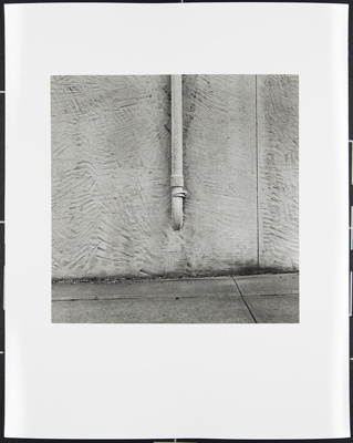 Untitled [Wall with pipe]; Cooper, John; ca. 1983; 1983:0016:0012