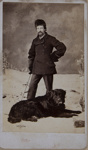 Untitled [Studio portrait of a man standing with a dog at his feet]; Parks, J.G.; ca. 1880; 1975:0031:0409