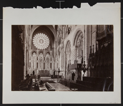 Choir, Durham Cathedral, Looking East; Wilson, George Washington; ca. 1870; 1982:0018:0001