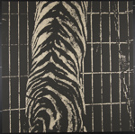 Untitled [Abstract shape in front of bars and chain]; Keane, Richard; 1970; 1972:0096:0026