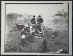 [Untitled, Civil War Re-enactor's at camp dinner].; Hendee, Keith F.; 1981; 1981:0098:0002