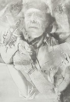 Untitled [Nathan Lyons and seashell] ; Lyons, Joan; 1974; 1975:0006:0003