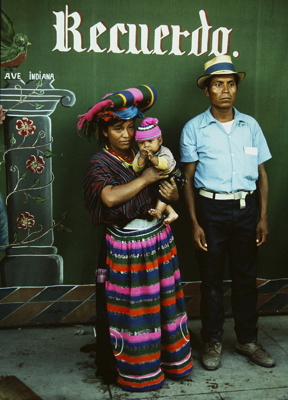 Couple With First Child, Sacapulas, Guatemala; Parker, Ann; 1972; 2009:0056:0012