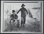 [Untitled, Two Civil War Re-enactor's pose near their encampment]. ; Hendee, Keith F.; 1981; 1981:0098:0008