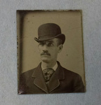 [Man in bowler hat]; Unknown; Ca. 1860; 1975:0029:0015